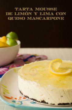 Tarta Mousse de Limón y Lima - http://postresoriginales.com/