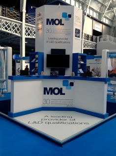 Exhibition Stand: Stand designed, built and installed for MOL  at the CIPD Learning and Development Show 2014 at Olympia London www.ddex.co.uk