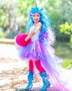 Belle Halloween, Unicorn Halloween Costume, Diy Halloween Costumes For Kids, Girl Unicorn Costume, Unicorn Dress, Halloween Patterns, Halloween 2019, Pop Star Costumes, Girl Costumes