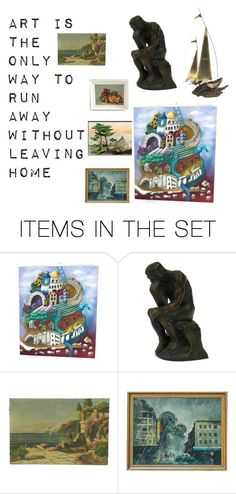 """""""Art is the only way to run away without leaving home"""" by underlyingsimplicity ❤ liked on Polyvore featuring art, vintage and vogueteam"""