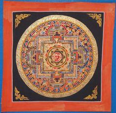 Mandala аnd Kalachakra Thangka Paintings Lot of 14 Pcs Painted On Linen Canvas