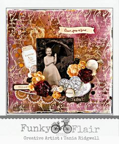 Tania's Creative Space - Funky Flair Studio October DT Challenge Reveal