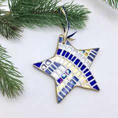 Items similar to Set of of 2 or 4 Mosaic Star Ornaments, Mosaic Christmas, Star Christmas Ornaments, Mosaic Star Ornament, Modern Holiday Hostess Gift on Etsy Mosaic Art, Mosaics, Christmas Decorations, Christmas Ornaments, Holiday Decor, Glitter Tiles, Glitter Ornaments, Star Ornament, Christmas Star