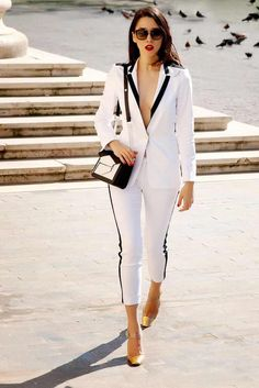 womens fashion night out summer Business Outfits, Business Attire, Suit Fashion, Fashion Outfits, Womens Fashion, Fashion Ideas, Fashion Night, White Outfits, Classy Outfits