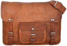 """""""Nick"""" ist unter den College-Taschen ein wahrer Klassiker! Im angesagten Vintage-Style kann diese Tasche hundertprozentig überzeugen und macht Dich zu einem echten Hingucker auf der Straße - Lederumhängetasche - Gusti Leder - U16"""