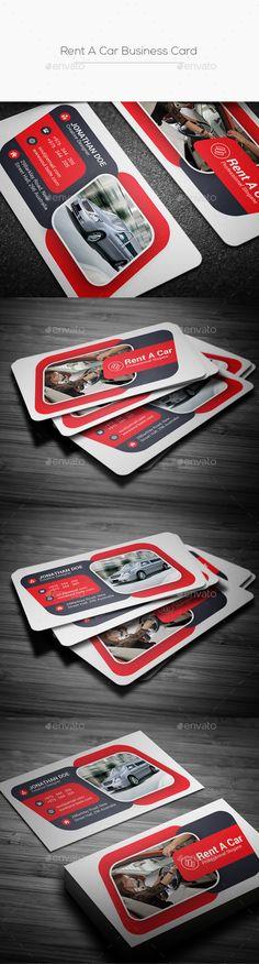 A Car Business Card Template PSD