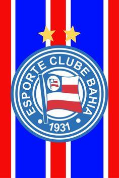 Esporte Clube Bahia (Salvador-BA) Real Madrid, Salvador Ba, Soccer Teams, Football Squads, Hs Sports, Coat Of Arms, Needlepoint