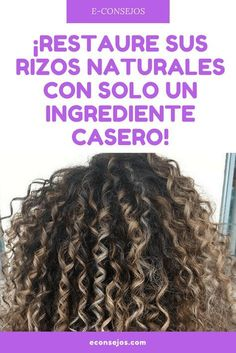your natural curls with just one homemade ingredient! have mistreated your hair from using the iron and now your natural curls … - All About Hairstyles Beauty Tips For Teens, Beauty Tips For Skin, Natural Beauty Tips, Beauty Secrets, Beauty Hacks, Hair Beauty, Curly Hair Tips, Wavy Hair, Curly Hair Styles