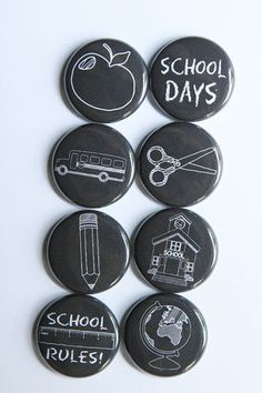 Chalkboard School Days Flair by aflairforbuttons on Etsy, $6.00