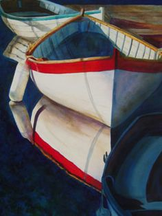 First Light - Wooden Boat Paintings by Janne Matter