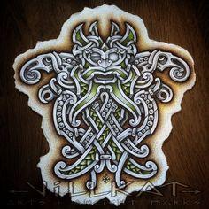 ✿ Tattoos ✿ Celtic ✿ Norse ✿ Odin mask n Ravens by VillKat-Arts