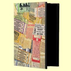70s Concert Ticket Stubs Cover ~ For iPad Air ~ add your hippie!