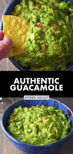 Our favorite authentic guac recipe made with a subtle spicy kick and a profound lime twist. Authentic Guacamole Recipe, Best Guacamole Recipe, Homemade Guacamole, Avocado Recipes, Salsa Recipe, Potato Recipes, Healthy Dinner Recipes, Mexican Food Recipes, Vegetarian Recipes