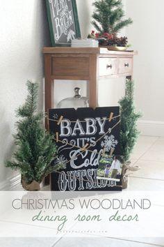 Christmas Woodland Dining Room!  #ad #BIGSeason #BigLots #CollectiveBias @BigLots