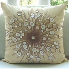 Moon Glow - 18x18 Inches Throw Pillow Covers - Silk Pillow Cover with Mother Of Pearl & Bead Embrodiery The HomeCentric,http://www.amazon.com/dp/B004NPRVSC/ref=cm_sw_r_pi_dp_vBvXsb083X86YNGS