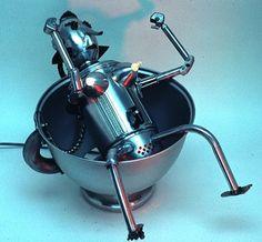 """CLAYTON G. BAILEY - ROBOTGROUP_""""CELESTE"""" the  Robot Teabag"""