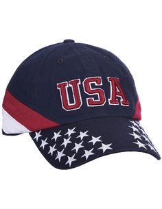 08305e089653 USA Stars And Stripes Baseball Cap Patriotic Hat 3D Embroidered Cotton Twill