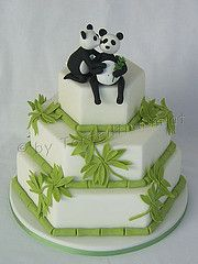 Panda Brautpaar Hochzeit Torte www.tortenfiguren.at Panda Birthday, Cake & Co, Cake Board, Diy Cake, Fondant, Desserts, Corsages, Recipes, Food