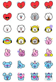 Pop Stickers, Tumblr Stickers, Kawaii Stickers, Printable Stickers, Bts Drawings, Kawaii Drawings, Journal Stickers, Planner Stickers, Kpop Diy
