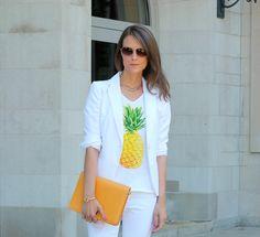 Pineapple Punch - Penny Pincher Fashion #whiteblazer #fashion #mystyle