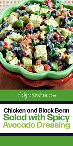 Best Salad Recipes, Veggie Recipes, Diet Recipes, Cooking Recipes, Chicken Recipes, Vegetarian Recipes, Dinners Under 500 Calories, Black Bean Salad Recipe, Boat Food