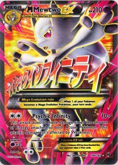 Pokemon X & Y BREAKthrough Ultra Rare Holo Full Art Mega Mewtwo-EX #160