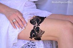Black Bridal Accessories Black Wedding Garter by BridalSpecialDay, €20.00