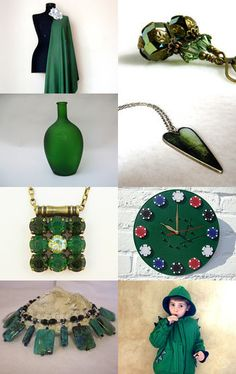 Forest Green Treasures... by ROSE B on Etsy--Pinned with TreasuryPin.com