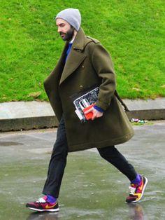 Schedvin style streetstyle jacket coat beanie men beard fashion