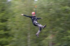 Ziplining in Dalsland, Western Sweden
