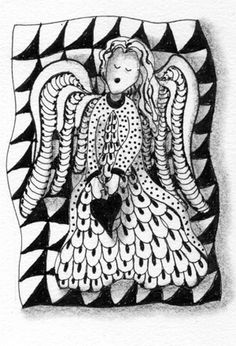 zentangle angel by Suzanne McNeill