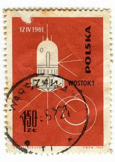Poland Postage Stamp: Conquest of Space  c. 1963  part of the Conquest of Space series.   designed by J. Desselberger