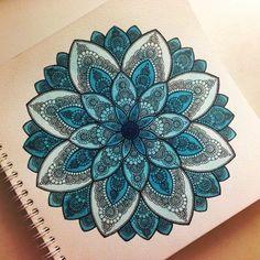 mandala flower drawing