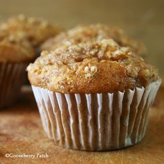 Gooseberry Patch Recipes: Pumpkin Streusel Muffins - this recipe makes 2 dozen muffins or 2 loaves of Pumpkin Streusel Bread that freeze beautifully! From Hometown Harvest Cookbook.