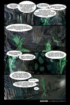 """""""AlieNación""""(p12) guión:F.Sartori /dibujos de A.Casciani - seguila en Alquimia Comics: https://alquimiacomics.wordpress.com"""