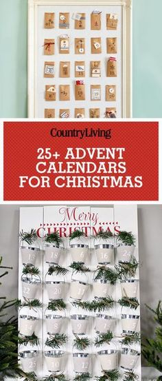These DIY advent calendars are the cutest ways to pass the days until Christmas. From lights to garlands and more creative inspiration, we've got the best advent calendar ideas right here. Cool Advent Calendars, Homemade Advent Calendars, Diy Advent Calendar, Calendar Ideas, Homemade Christmas, Diy Christmas Gifts, Christmas Crafts, Christmas Ideas, Christmas Tables