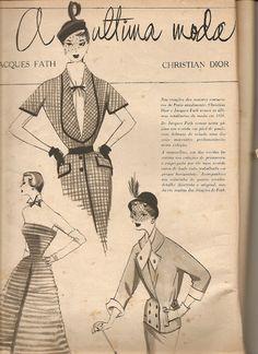 Moda anos 50 por Alceu Penna