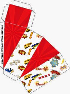 Super H�roes: Cajas para Imprimir Gratis.
