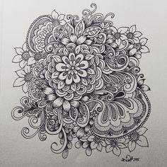 flower cluster doodle | KC DOODLE ART