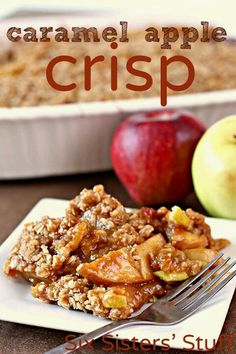 Thanksgiving Dessert -- Caramel Apple Crisp #KrogerHoliday