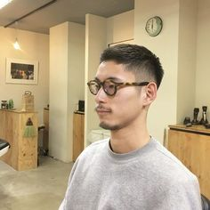 Glasses are fantabulous. Too much fuzz, loose the stache. Asian Men Short Hairstyle, Asian Man Haircut, Girls Short Haircuts, My Hairstyle, Haircuts For Men, Men Haircut Short, Korean Haircut Men, Jarhead Haircut, Short Hair Cuts
