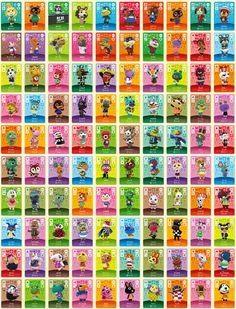 Estas son todas las tarjetas amiibo de 'Animal Crossing' que encontraremos en la primera serie