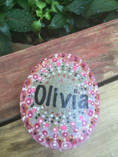 Nature mixes with art in these custom painted rocks. This is a beautiful wedding gift a new family or a gift to celebrate and remember how special our family is to each of us. The design on this rock