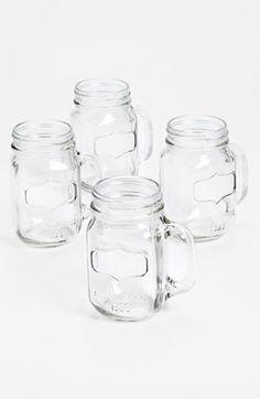 Glass Mason Jar Mugs (Set of 4) | Nordstrom