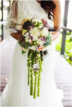 Alice in Wonderland wedding bouquet | Image by Christophe Mortier Photographe