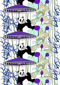 Pandaherra black out, blue by Saara Kurkela