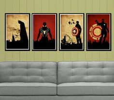 Super heroes! I LOVE these! :D <3 It would be the bestest EVER if there was one of THOR! :D <3