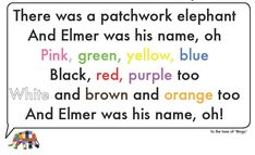 "Using the story of ""Elmer"" by David Mckee to help learning the colours is one of the best ways I have found when teaching very young learners.   The book comes with a soft toy of E…"