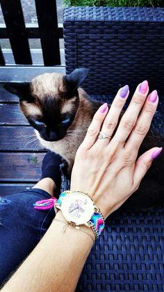 #watch#zegarek#kot#gaga#ombre#nail#paznokcie#oczy