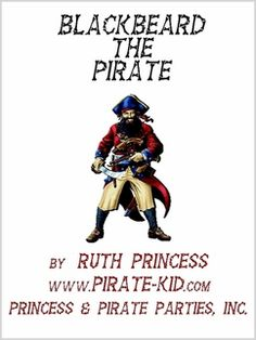 Blackbeard the Pirate - a historical children's book Historical Fiction Books For Kids, Girl Pirates, Projects For Kids, Childrens Books, Coloring Books, Teaching, Children's Books, Vintage Coloring Books, Kids Service Projects